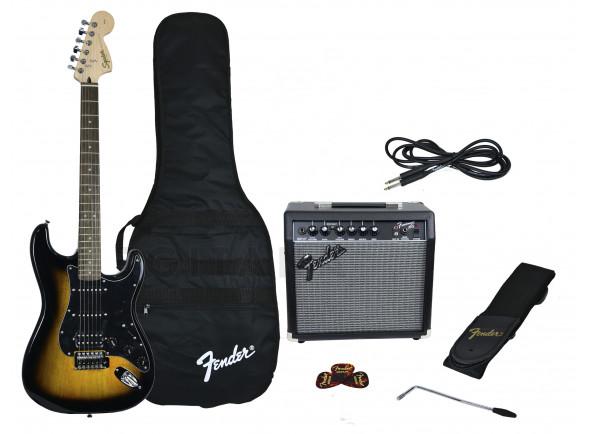 Guitarra tipo ST /Packs de guitarra  Fender Affinity Strat Pack HSS Brown Sunburst B-Stock