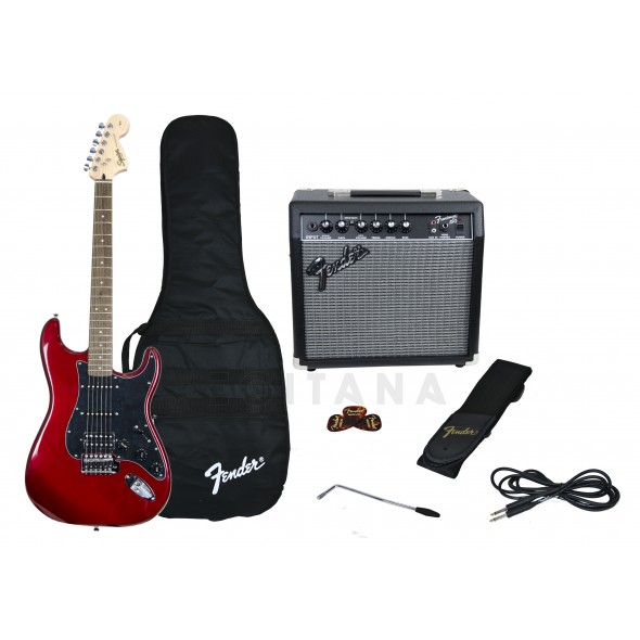 Guitarra tipo ST/Packs de guitarra  Fender Affinity Strat Pack HSS Candy Apple Red
