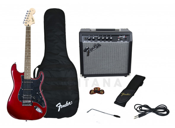 B-stock Guitarra tipo ST /Paquetes de guitarra Fender Affinity Strat Pack HSS Candy Apple Red B-Stock