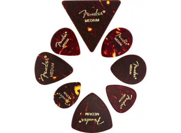 Palhetas para guitarra Fender All Shapes Celluloid Medley Medium Tortoise Shell