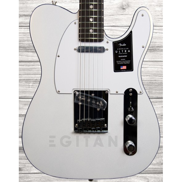 Guitarras Fender American Guitarra Elétrica/Guitarras formato T Fender American Ultra Tele RW Arctic Pearl