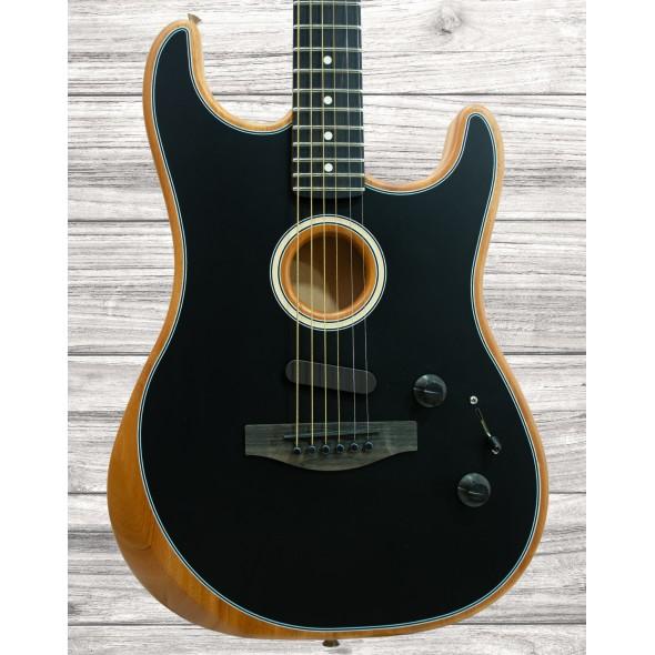 Guitarras formato ST Fender American Acoustasonic Strat BK