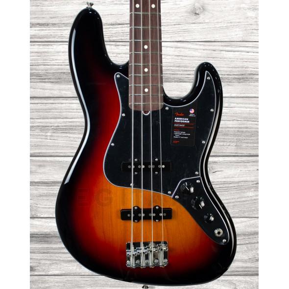 Baixo de 4 Cordas Fender American Performer Jazz Bass RW 3-Color Sunburst
