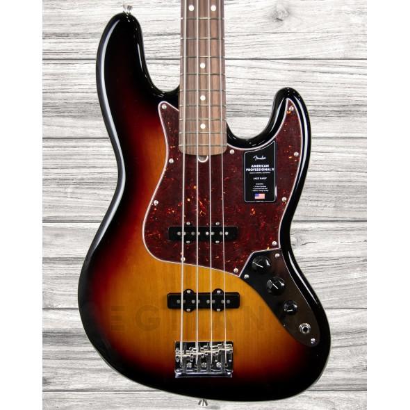 Baixo de 4 Cordas Fender American Professional II Jazz Bass RW 3-Color Sunburst