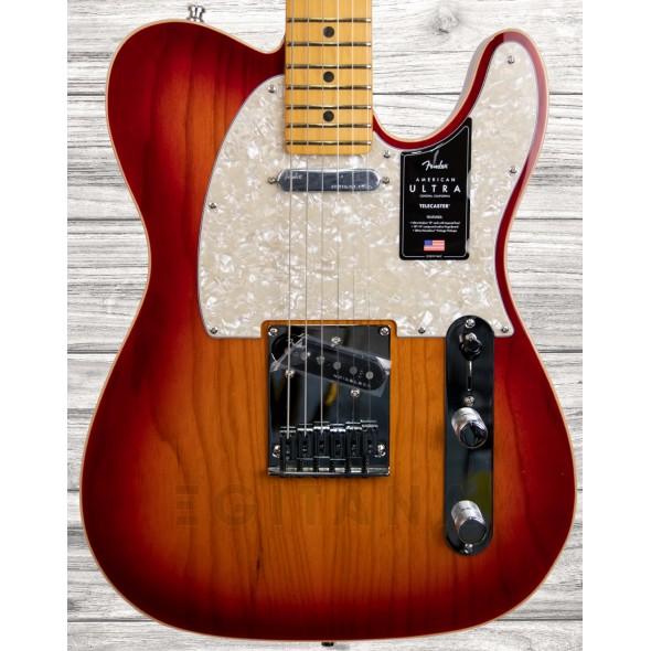 Guitarras formato T Fender American Ultra Telecaster MN Plasma Red Burst