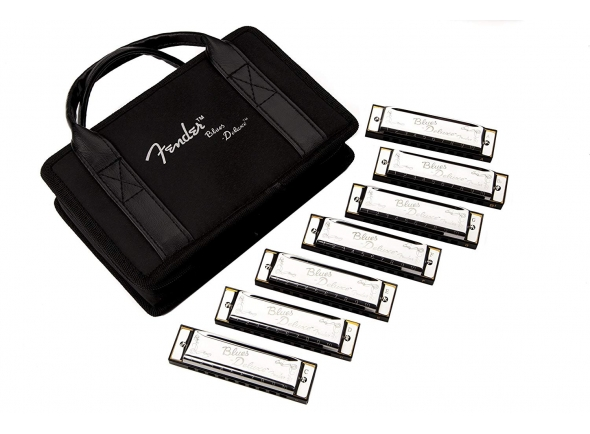 Kit de harmónicas Fender Blues Deluxe Harmonicas 7-Pack With Case