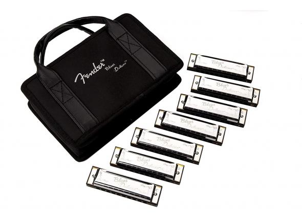 Kit de harmónicas Fender Blues Deluxe Harmonicas 7-Pack With Case