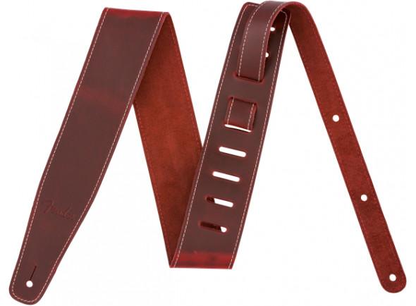 Correia de couro para guitarra ou baixo/Correia de couro Fender  Broken-in Leather Strap Brown