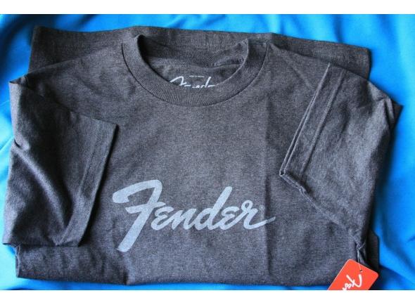 T-Shirt/Diversos Fender Logo Carvão, S