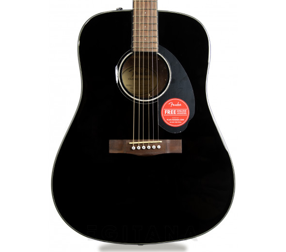 Guitarras Dreadnought Fender CD-60S Dreadnought WN Black