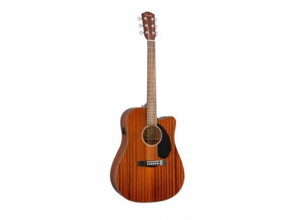 Guitarra Acústica Fender CD-60SCE ALL-MAHOGANY  Forma do corpo: Dreadnought with cutaway  Top: mogno maciço  X-Bracing com fenda  Costas e lados: Mogno  Pescoço: mogno  Fretboard: Rosewood (Dalbergia latifolia)  20 Frets  Largura da porca: 43 mm  Escala: 643 mm  Hardware: Chrome  Pickups: Fishman CD Electronics  Cor: Natural