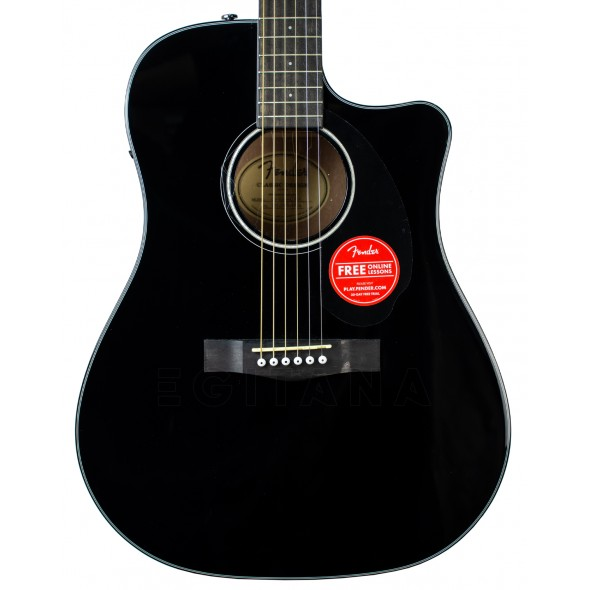 Guitarras Dreadnought Fender CD-60SCE Blk
