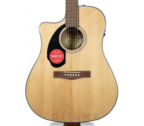 Guitarra Acústica para Esquerdinos/Guitarras acústicas para esquerdinos Fender CD-60SCE Lh Nat