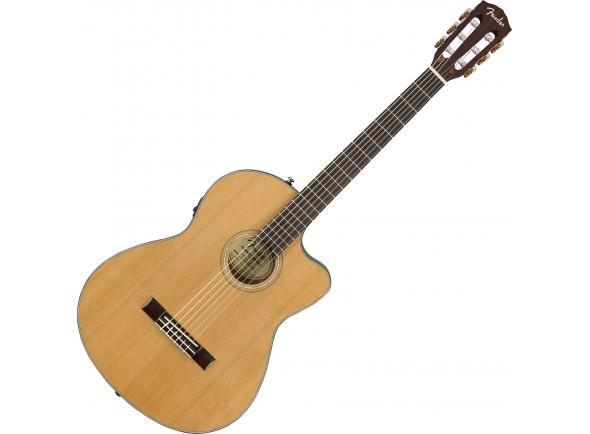 Guitarra Clássica Fender CN-140SCE Nylon WN with Case Natural