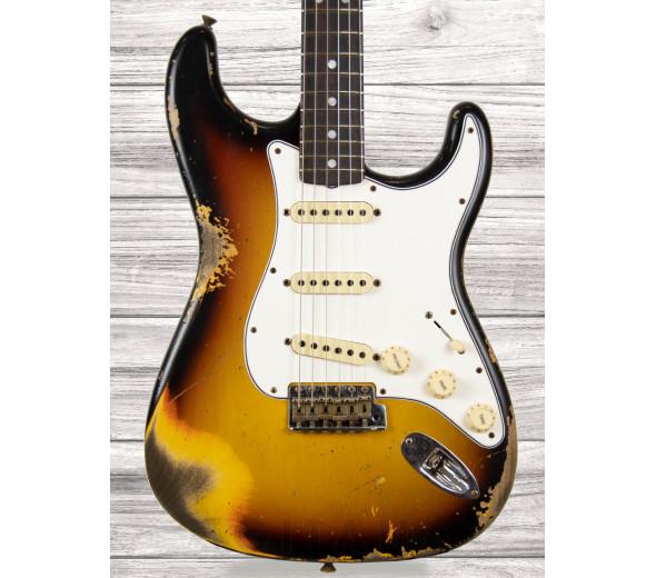 Fender Custom Shop em Stock Guitarras formato ST Fender  Custom Shop 67 Stratocaster Heavy Relic Faded Aged 3-Colour Sunburst