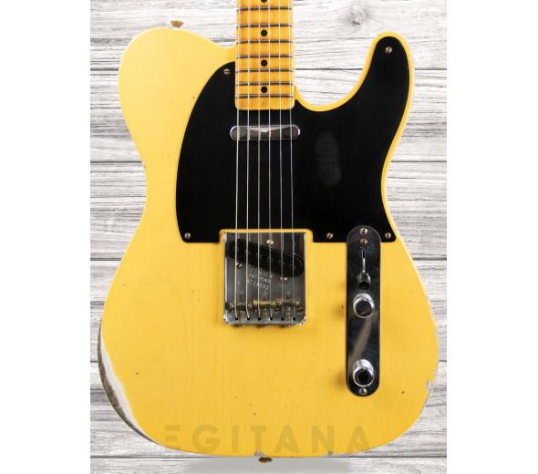 Fender Custom Shop Guitarra elétrica/Guitarras de formato T Fender Custom Shop 70th Anniversary Relic Broadcaster, Aged Blonde