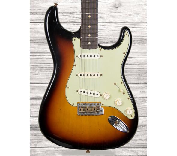 Fender Custom Shop Guitarras de formato ST Fender  Custom Shop Limited Edition 62/63 Journeyman Relic RW Aged 3-Color Sunburst
