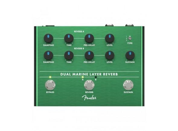 Efeitos reverb e hall Fender Dual Marine Layer Reverb