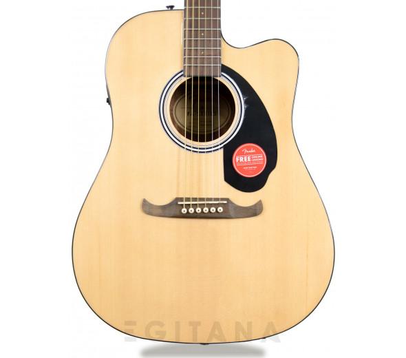 Guitarra acústica dreadnought/Guitarras Dreadnought Fender FA-125CE NAT