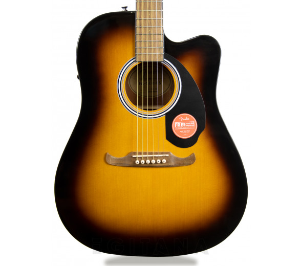 Guitarras Dreadnought Fender FA-125CE Sunburst
