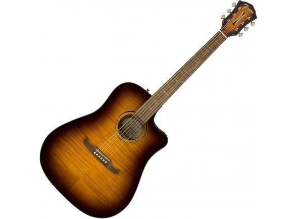 Guitarras Dreadnought Fender FA-325CE Dreadnought Mocha Burst