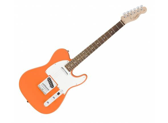 """Guitarra tipo T Fender Squier Affinity Telecaster RW Competition Orange  Corpo em alder, Braço em maple """"C"""" shape, Escala em rosewood com 25.5"""" (64.8 cm), 21 trastes medium jumbo"""