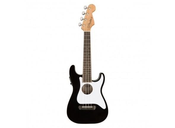 Ukulele Electrificados Fender Fullerton Strat Ukulele Black