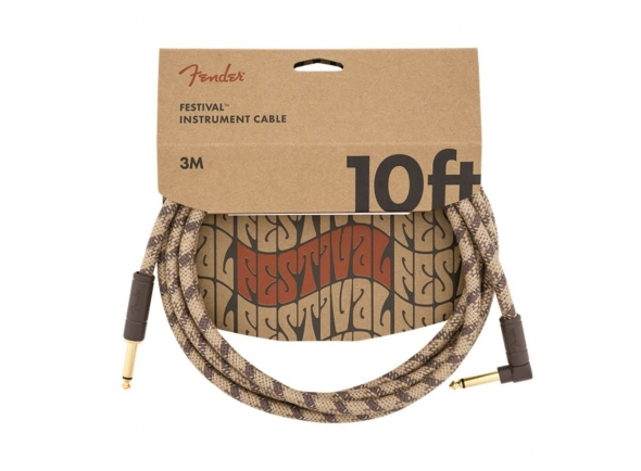 Cabo para Instrumento Fender FV Series Cable Pure Hemp BR Jack 3m