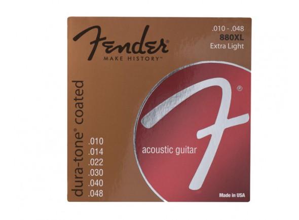 Jogo de cordas .010/Jogo de cordas .010 Fender Jogo de Cordas 010 Bronze Revestidas Guitarra Acústica 880XL 10-48