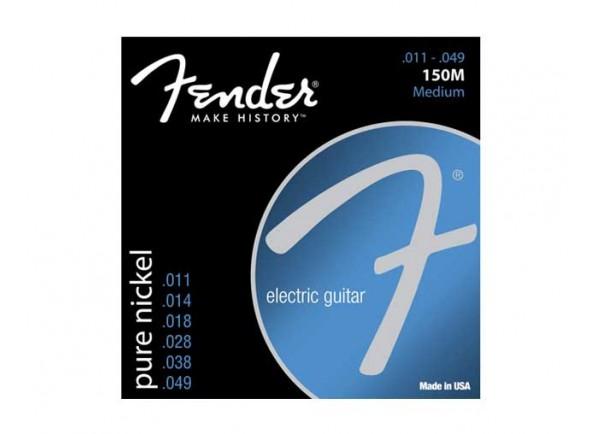 Jogo de cordas .011 Fender Jogo de Cordas 011 Guitarra Elétrica 150M Ball End