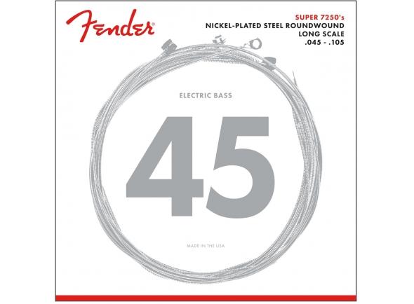 Jogo de cordas .045 para baixo elétrico de 4 cordas Fender Jogo de Cordas 7250M para Baixo