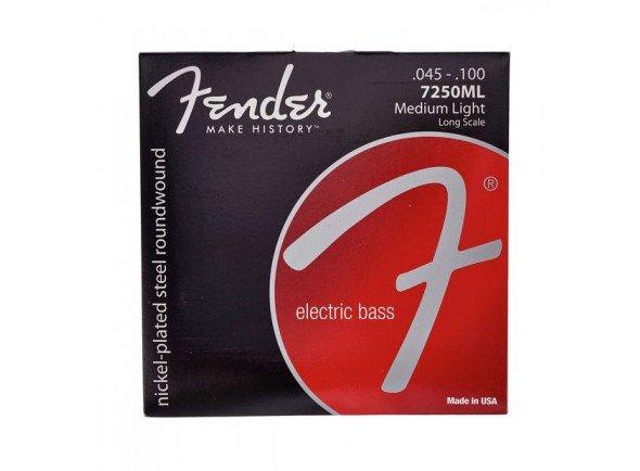 Jogos de cordas para baixo elétrico Fender Jogo de Cordas 7250ML Baixo