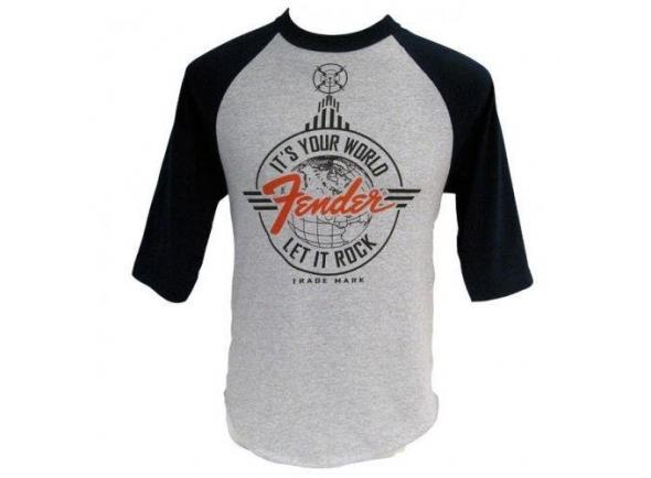 T-Shirt/Diversos Fender Let It Rock Baseball T-Shirt XL