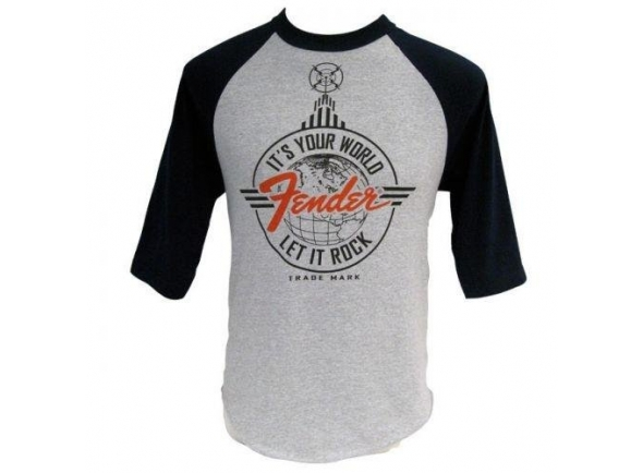T-Shirt/Diversos Fender Let It Rock Baseball T-Shirt S