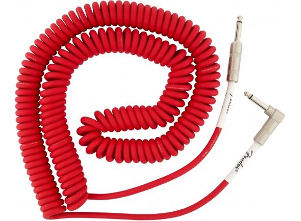 Cabo de instrumento/Cabo para Instrumento Fender Original Coil Cable Red Jack 9m
