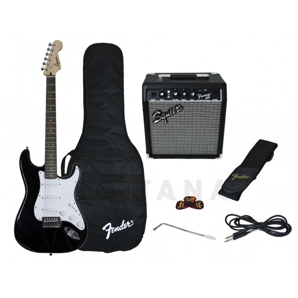 Pack de guitarra/Packs de guitarra  Fender Pack Guitarra Strat BK GB 10G