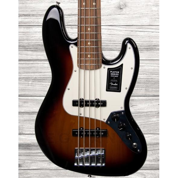 Baixo elétrico de 5 cordas/Baixo de 5 Cordas Fender Player Series J-Bass V PF 3TS