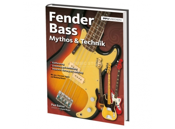 Livros de guitarra Fender  PPV Medien  Bass Mythos &  Technik