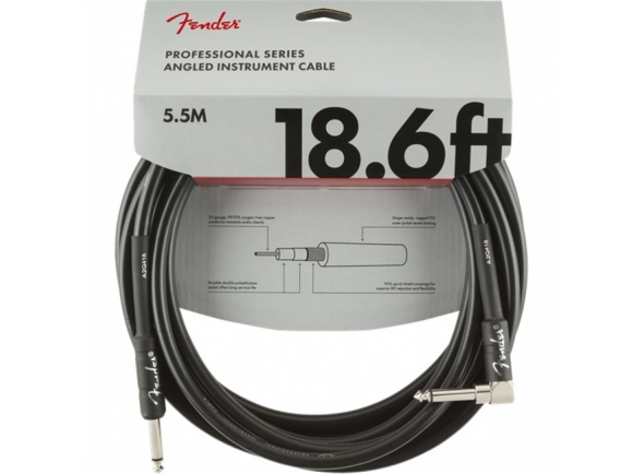 Cabo para Instrumento Fender Professional Series 5.5m (18.6ft) Straight/Angle - 0990820019