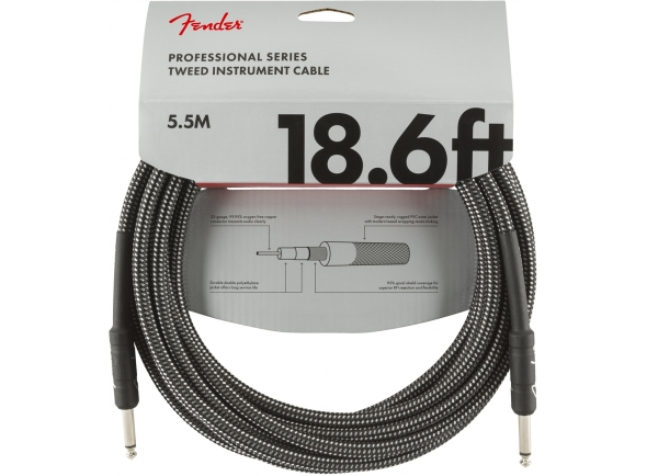 Cabo para Instrumento Fender Professional Series Gray Tweed 5.5M