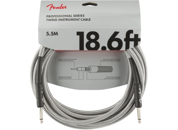 Cabo para Instrumento Fender Professional Series White Tweed 5.5M