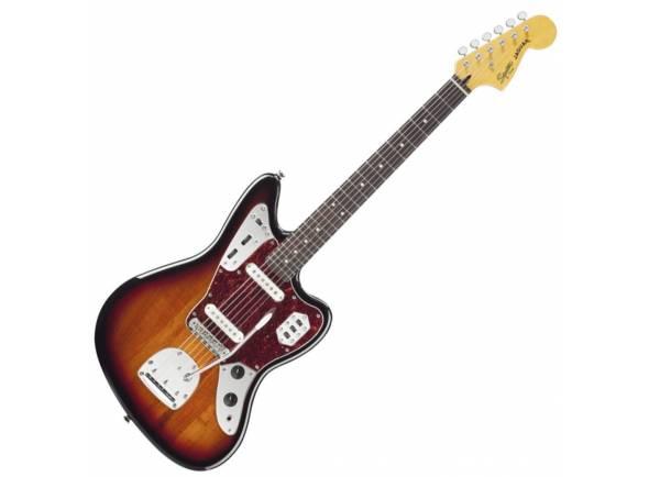 """Fender SQ Vintage Mod Jaguar 3TS  Corpo em Basswood, Braço em maple """"C"""" shape, Escala em rosewood com 24"""" (610 mm), 22 trastes medium-jumbo, Raio da escala de 9,5"""" (241 mm), Largura do nut 1.650"""" (42mm)"""