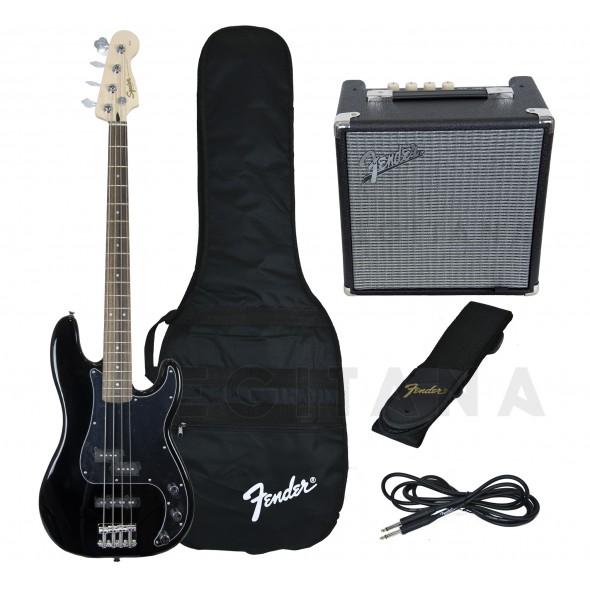 Baixo elétrico de 4 cordas/Pack's de Baixo Elétrico Fender Squier Affinity Precision PJ Bass Pack Black