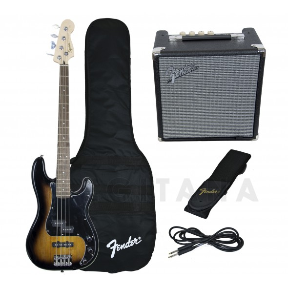 Pack's de Baixo Elétrico Fender Squier Affinity Precision PJ Bass Pack Brown Sunburst