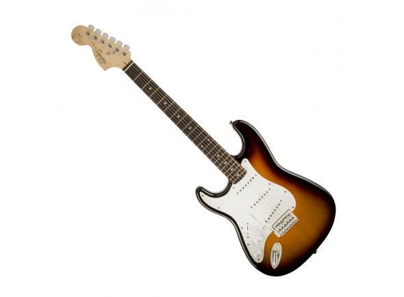 Guitarras Esquerdinos Fender Squier Affinity Stratocaster Left Handed Brown Sunburst