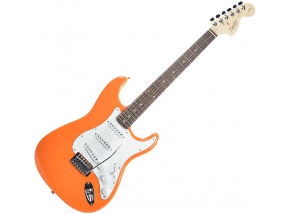 Fender Squier Affinity Stratocaster RW Competition Orange  GuitarraSquier Affinity Stratocaster Laranja, Corpo: amieiro, stratocaster. Braço: bordo, perfil em 'C', Escala: pau-santo, 21 trastes de tamanho medium jumbo