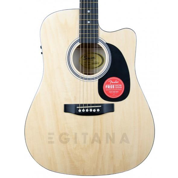 Guitarra Dreadnought/Guitarras Dreadnought Fender Squier SA-105CE Natural