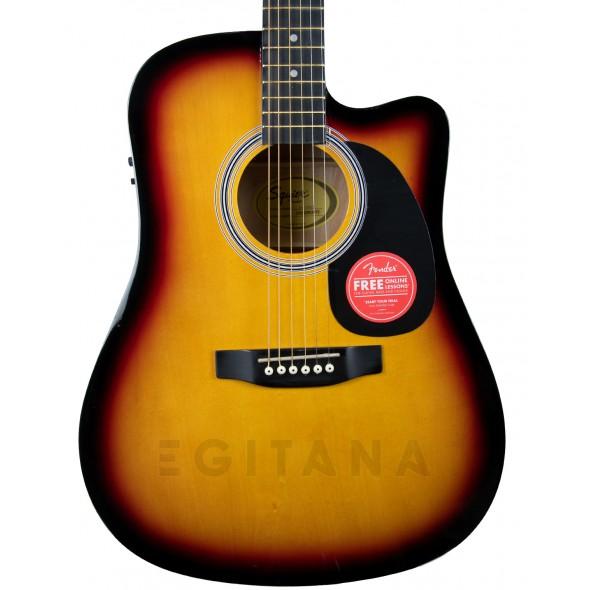 Guitarra Dreadnought/Guitarras Dreadnought Fender Squier SA-105CE Sunburst