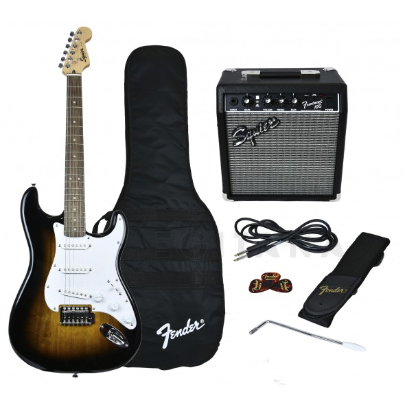 Pack de guitarra /Packs de guitarra  Fender Squier Strat Pack SS Brown Sunburst