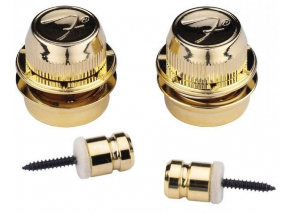 Acessório para correia de guitarra Fender Strap Locks FSLG1 Gold